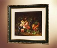 Натюрморт с фруктами и ящерицей