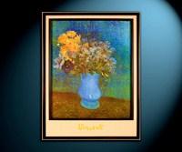 Букет в синей вазе