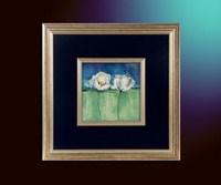 Цветы на голубом 2