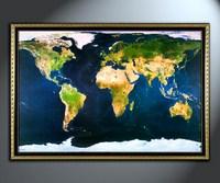 Карта мира из космоса